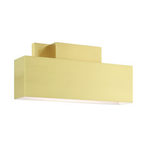 Lynx Satin Brass Two-Light Outdoor ADA Wall Sconce