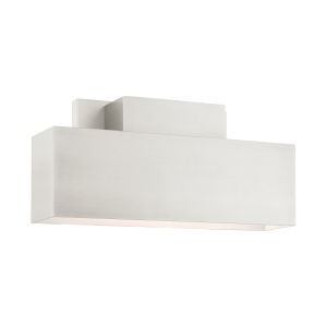 Lynx Brushed Nickel Two-Light Outdoor ADA Wall Sconce
