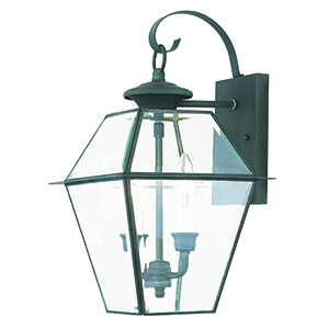 Westover Charcoal Two-Light Outdoor Wall Sconce
