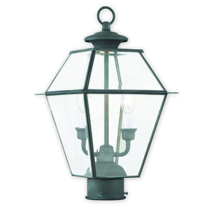 Westover Charcoal Two-Light Outdoor Post Lantern