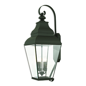 Exeter Black Four-Light Outdoor Wall Sconce