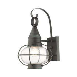 Newburyport Charcoal Nine-Inch One-Light Outdoor Wall Lantern