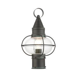 Newburyport Charcoal Nine-Inch One-Light Outdoor Post Lantern