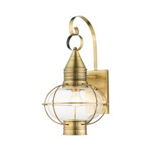 Newburyport Antique Brass 11-Inch One-Light Outdoor Wall Lantern