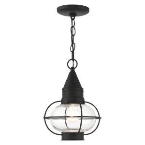 Newburyport Black One-Light Outdoor Pendant