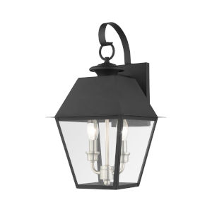 Mansfield Black Two-Light Outdoor Wall Lantern