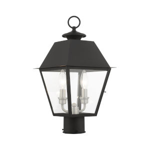Mansfield Black Two-Light Outdoor Post Lantern