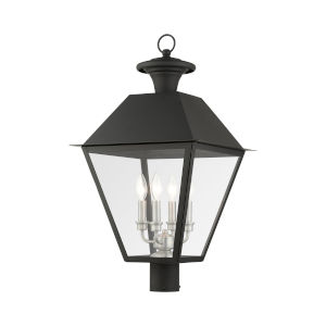 Mansfield Black Four-Light Outdoor Post Lantern