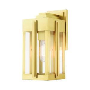 Lexington Natural Brass One-Light Outdoor Wall Lantern
