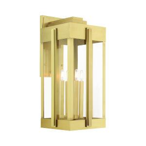 Lexington Natural Brass Four-Light Outdoor Wall Lantern