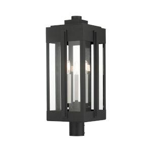 Lexington Black Three-Light Outdoor Post Lantern