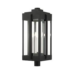 Lexington Black Four-Light Outdoor Post Lantern