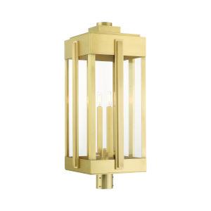 Lexington Natural Brass Four-Light Outdoor Post Lantern
