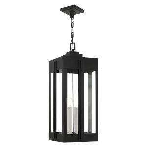 Lexington Black Four-Light Outdoor Pendant