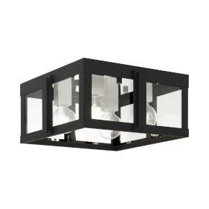 Lexington Black Four-Light Outdoor Flush Mount