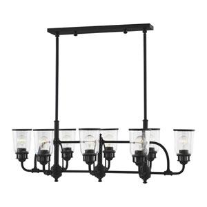 Lawrenceville Black Eight-Light Linear Chandelier