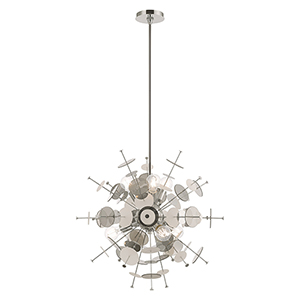 Circulo Polished Chrome Six-Light Chandelier