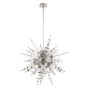 Circulo Polished Chrome Six-Light Pendant Chandelier