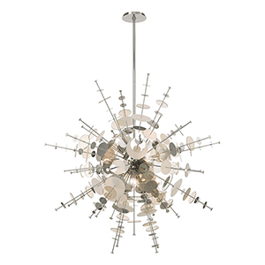 Circulo Polished Chrome 12-Light Chandelier