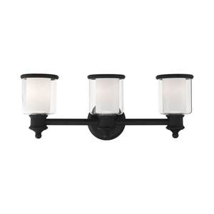 Middlebush Black Three-Light Bath Vanity