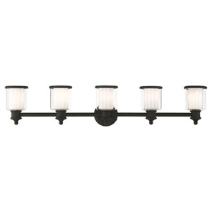 Middlebush Black Five-Light Bath Vanity