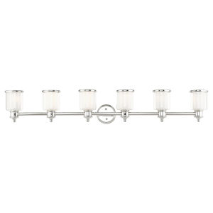 Middlebush Polished Nickel Six-Light Bath Vanity Sconce