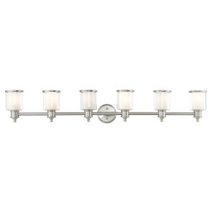 Middlebush Brushed Nickel Six-Light Bath Vanity Sconce