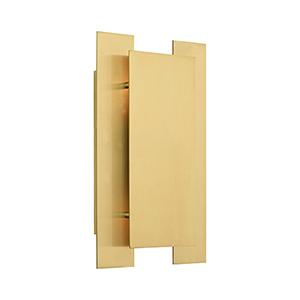 Varick Satin Brass Two-Light Wall Sconce