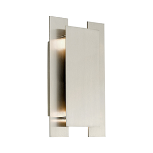 Varick Brushed Nickel Eight-Inch Two-Light ADA Wall Sconce with Brushed Nickel Metal Shade