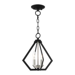Prism Black and Brushed Nickel Cluster Two-Light Convertible Pendant