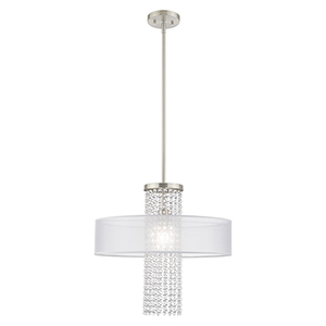Bella Vista Brushed Nickel Chandelier