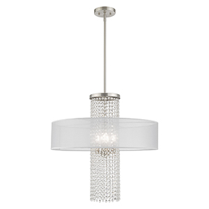 Bella Vista Brushed Nickel Four-Light Chandelier