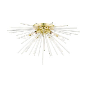 Utopia Satin Brass Six-Light Flush Mount