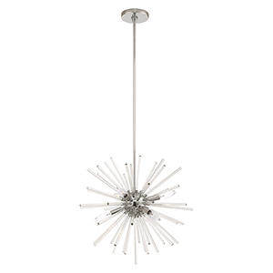 Utopia Polished Chrome Six-Light Pendant Chandelier