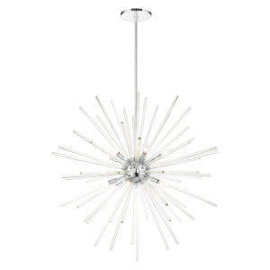 Utopia Polished Chrome 12-Light Foyer Chandelier