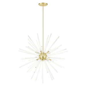 Utopia Satin Brass 12-Light Foyer Chandelier
