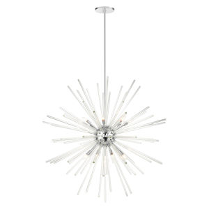 Utopia Polished Chrome 16-Light Foyer Chandelier