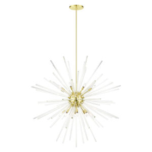 Utopia Satin Brass 16-Light Foyer Chandelier