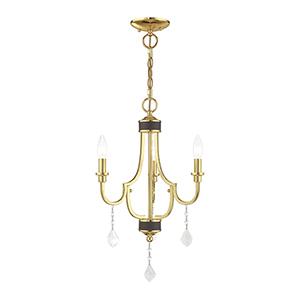 Glendale Polished Brass Three-Light Mini Chandelier