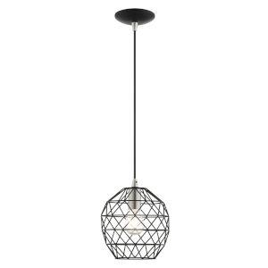 Geometrix Black One-Light Mini Pendant
