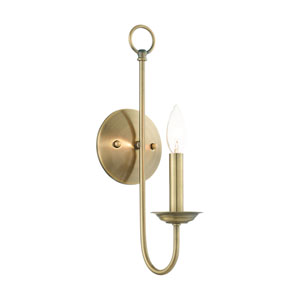 Estate Antique Brass One-Light Wall Sconce