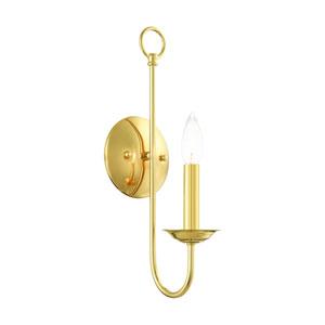 Estate Polished Brass One-Light Wall Sconce