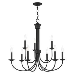 Estate Black Nine-Light Chandelier
