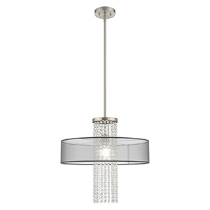 Bella Vista Brushed Nickel Pendant Chandelier