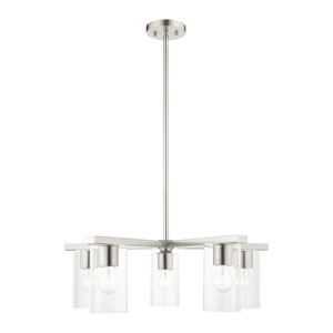 Zurich Brushed Nickel Five-Light Chandelier