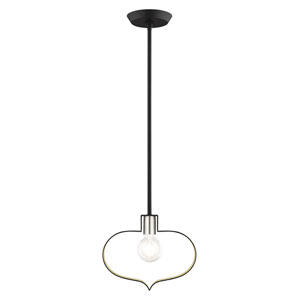 Meadowbrook Black and Brushed Nickel One-Light Pendant