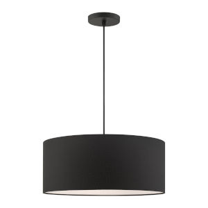Bainbridge Black 18-Inch Three-Light Pendant