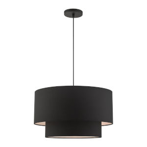 Bainbridge Black 20-Inch Three-Light Pendant