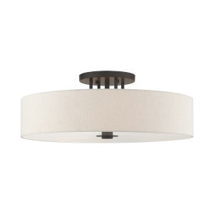 Meridian English Bronze 30-Inch Six-Light Semi-Flush Mount