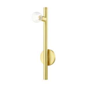 Bannister Satin Brass One-Light Wall Sconce